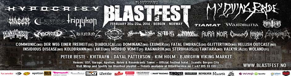 Complete coverage of Blastfest in Norway