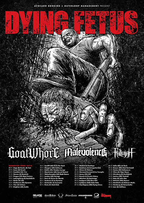 dying fetues EU tour fall 2014