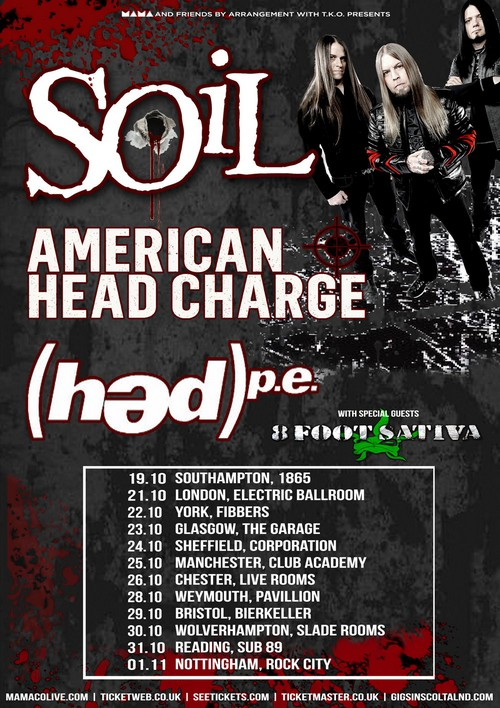Soil american head charge hed pe wolfbourne live at for Soil tour dates 2015