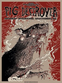 Pig Destroyer poster by M. Richards