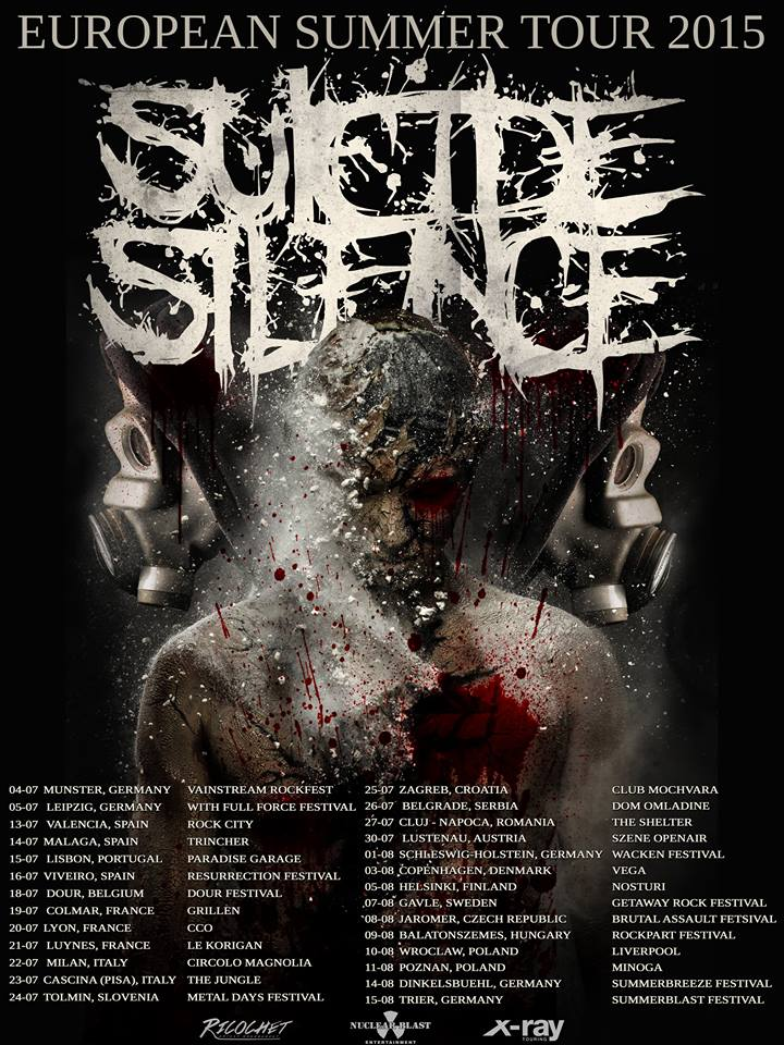 Suicide Silence Confirm Summer European Tour Dates | Ghost ...