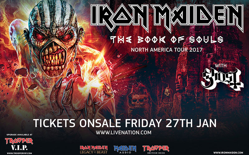 Iron Maiden Tour Dates 2017 : iron maiden announces the book of souls 2017 north american tour ghost cult magazine ~ Hamham.info Haus und Dekorationen